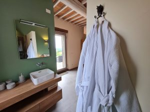 Master bedroom 1 bathrobes