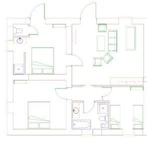 Vakantieappartement Umbrie plattegrond